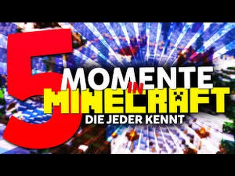 die 5 heftigsten minecraft momente die jeder kennt. Black Bedroom Furniture Sets. Home Design Ideas