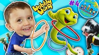 Shawn's Circle #4: The MAGIC APPLE!  Wobbly Worm Toss Game!    DOH MUCH FUN