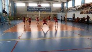 Фрагмент игры между волейбольными командами Астрахань и Ставрополь