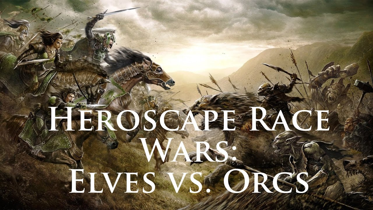 Heroscape Race Wars Orcs Vs Elves Youtube