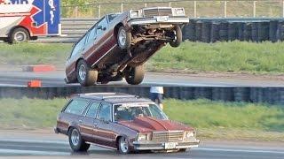 Nitrous Wagon SLAMS Track - GIANT Wheelie!