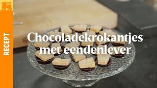 Chocoladekrokantjes met eendenlever