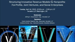 Structuring Innovative Revenue Models for Nonprofits - April 14, 2015