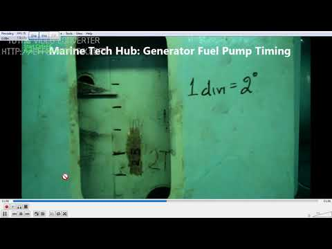 Generator Fuel Pump : How To Check Timing And Adjustment