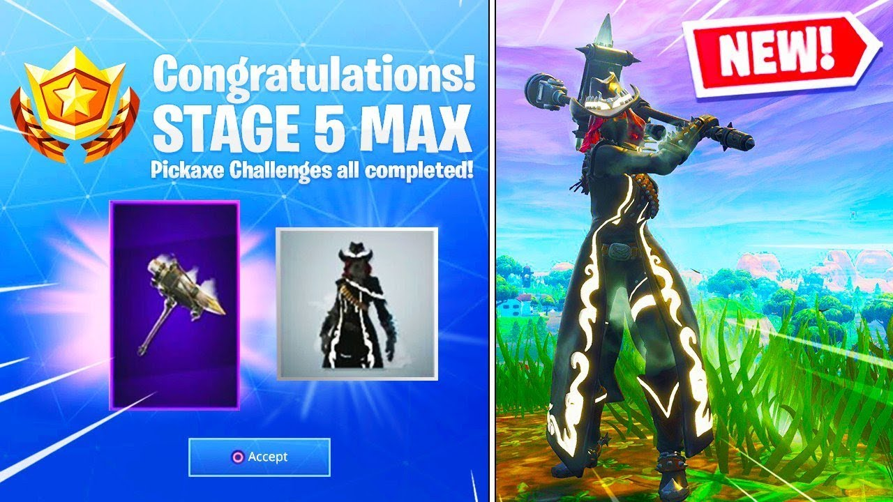 New Reckoning Pickaxe Max Calamity Skin Stage  Gameplay In Fortnite Battle Royale Season