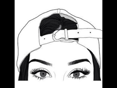 tumblr girl drawing 1