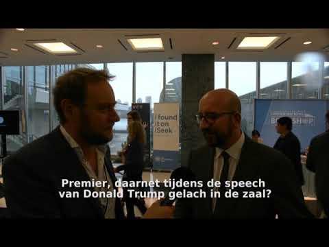 Premier Charles Michel reageert op de speech van Donald Trump