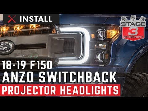 2018-2019 F150 ANZO Plank Style Switchback Projector Headlights Install