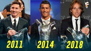 UEFA Men's Player of the Year Award 2011 - 2018 ⚽ Footchampion