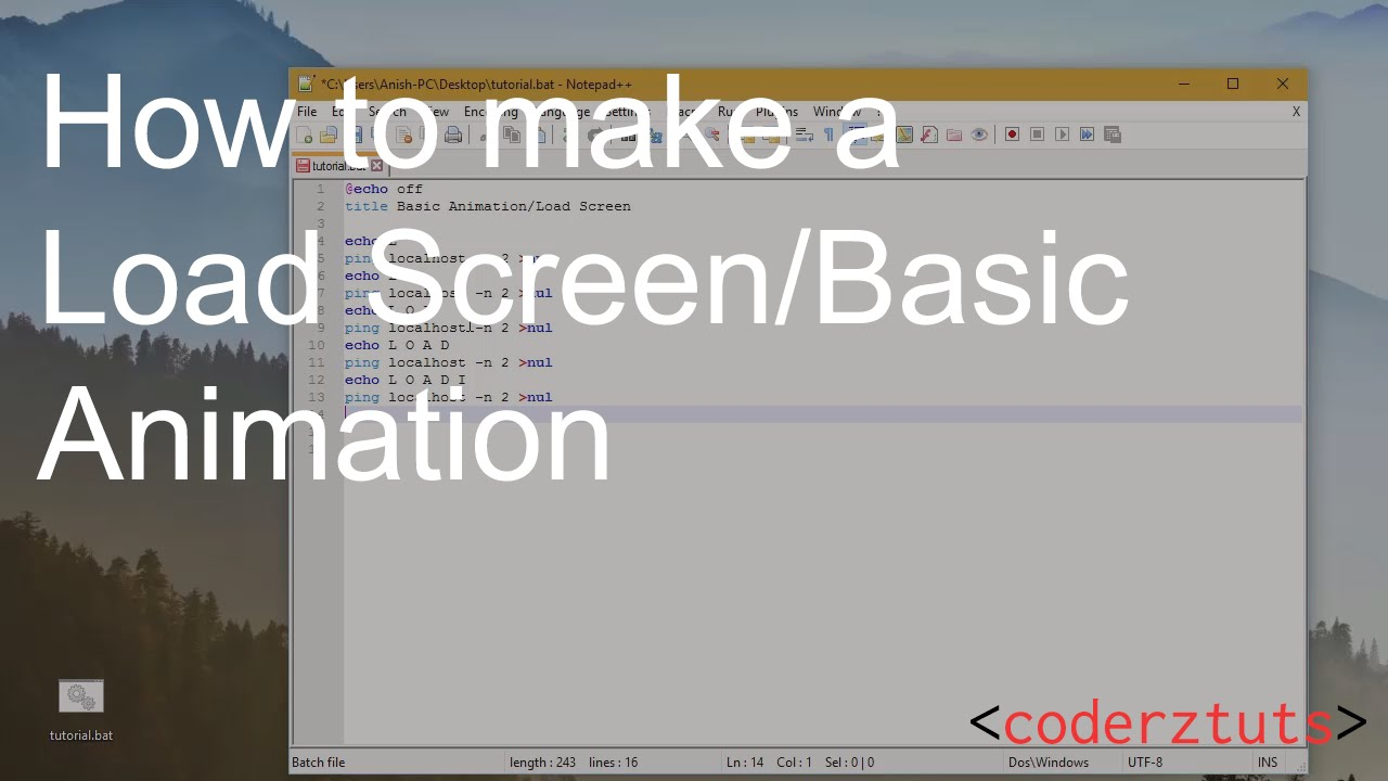 Batch Tutorial: How to make a Load Screen/Animation