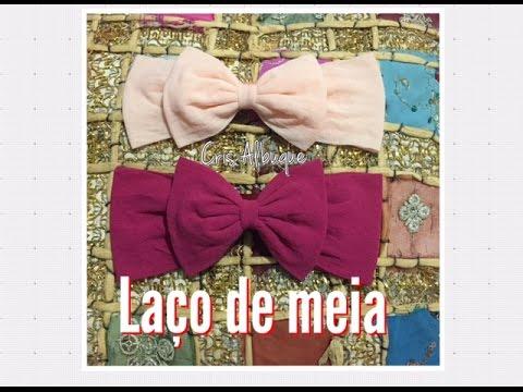 Laço de meia de seda - FÁCIL, rápido e barato! Pap by Cris Albuque