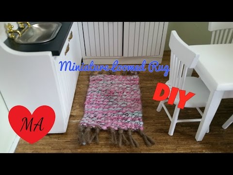 MINIATURE loom and rug TUTORIAL // AND CONTEST WINNERS!