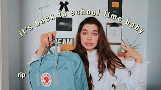what's in my backpack  *senior year*