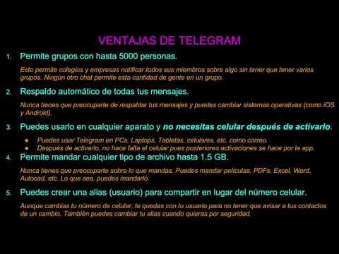 LAS VENTAJAS DE TELEGRAM SOBRE OTROS SISTEMAS DE CHAT