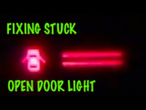 How to fix Open Door / Ajar / Dome light that stays on (1987 Corolla