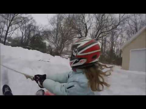INSANE QUAD AND SLED DRIFTING IN SNOW!