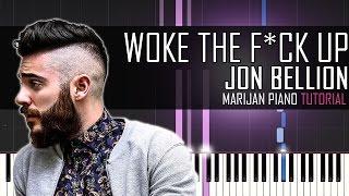 How To Play: Jon Bellion - Woke The F*ck Up | Piano Tutorial