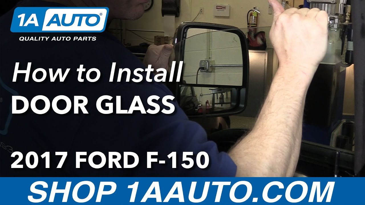 how to install replace front door glass window ford f150
