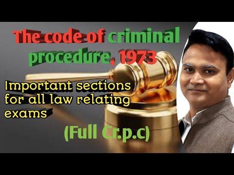 criminal procedure code, 1973 (cr.p.c.) important sections ...