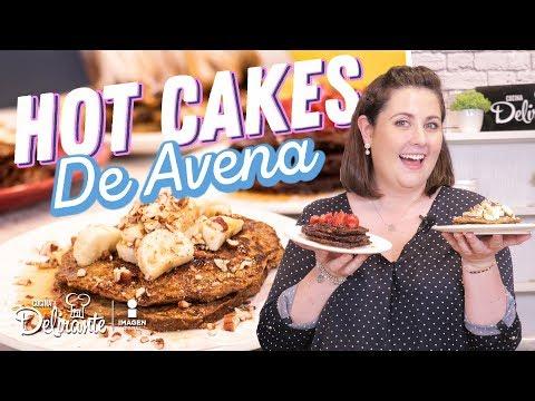 🥞Cómo hacer Hot Cakes de PLÁTANO CON AVENA (SIN GLUTEN) 🥞 | Hasta La Cocina | Cocina Delirante