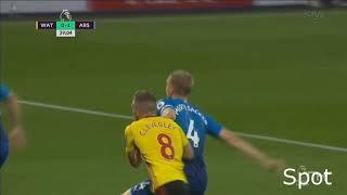 all goals and highlight Watford vs Arsenal 2-1 14/10/2017