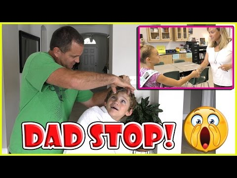 DAD CUTS TYLER'S HAIR FOR SCHOOL | KAYLA HAS MEET YOUR TEACH