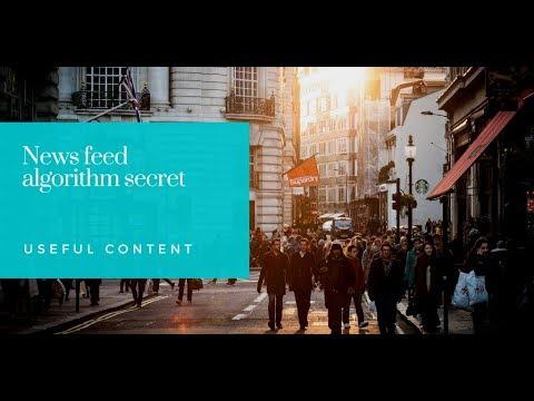 News feed algorithm secret