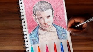 SKETCH SUNDAY #3 How To Draw Eleven - Stranger Things - DeMoose Art