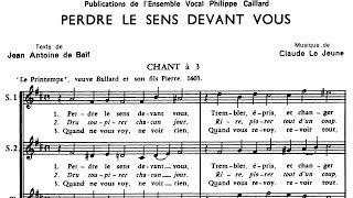 PERDRE LE SENS DEVANT VOUS - Claude Le Jeune (1528-1600)