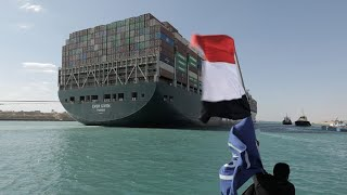 video: Suez Canal: Ever Given container ship 'fully refloated'