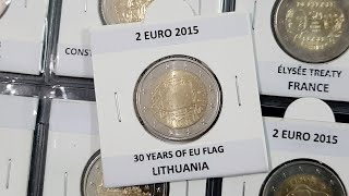 23 COINS #RM# ALL 2 EURO COMMEMORATIVE FROM 2014 UNC