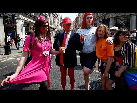 Adivinhem quem foi ao `gay pride` em Londres
