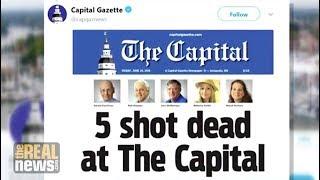 Five Capital Gazette Journalists Gunned Down in Maryland