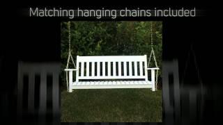 Patio Classics Augusta 4ft. White Porch Swing