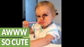 Hilarious baby shows us how NOT to eat your dessert