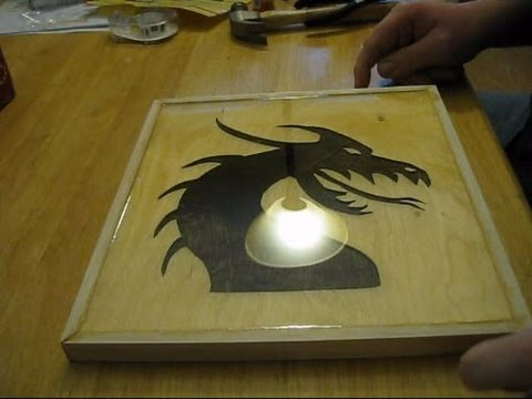 Framed Dragon Scroll Saw Cutout 2 Part Epoxy Project