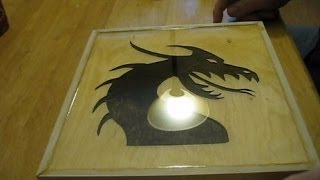 Framed Dragon Scroll Saw Cutout - 2 Part Epoxy Project