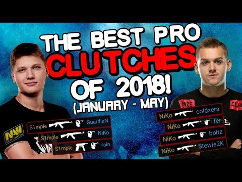 THE BEST PRO CLUTCHES OF 2018! (INSANE PLAYS!) - CS:GO