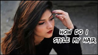My signature hairstyle | How to straighten your hair and give volume | Manasi Mau