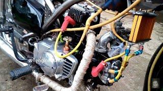 Video Honda C70 twin 2 silinder 200cc download MP3, 3GP, MP4, WEBM, AVI, FLV Agustus 2018