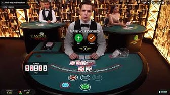 Live Texas Hold' em Bonus Poker - Finally Money Back