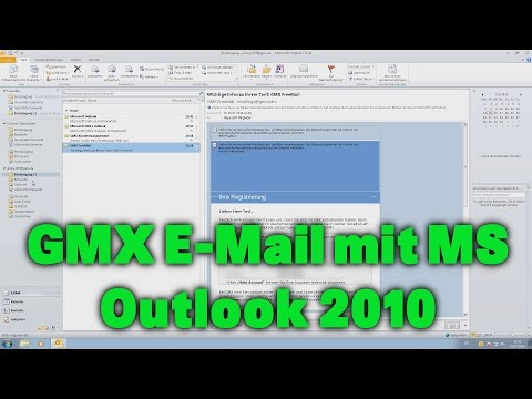 Gmx E Mail Mit Microsoft Outlook 2010 Youtube