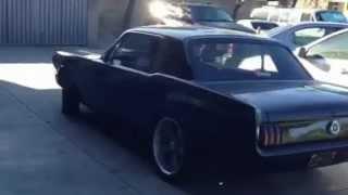 65 Mustang open headers