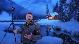 Blue Hour Photography in Winter Wonderland