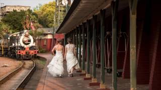 A Two Bride Intimate Train Wedding at Rovos Rail: Riette & Thereza
