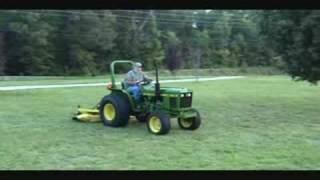John Deere 750 Tractor Start Up & Drive