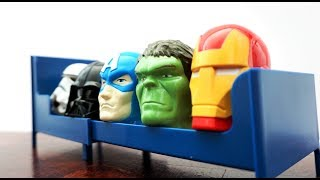Super Heroes Head Toys nursery rhymes for children, toddlers - Jumping on the Bed Song