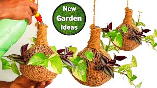 How to Make Tree Planting in Net/hanging pot diy/hanging pot plants/New Method