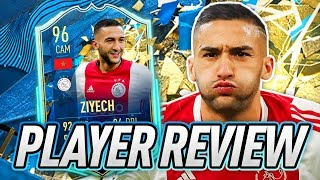 3⭐ WEAK FOOT UPGRADE! 🤩 96 TOTSSF ZIYECH PLAYER REVIEW! - FIFA 20 Ultimate Team