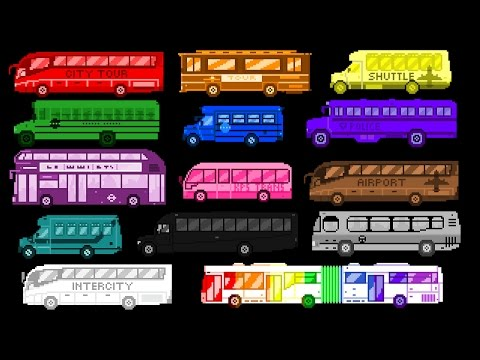 Bus Colors - Street Vehicles - The Wheels on the Bus - The Kids' Picture Show (Fun & Educational)